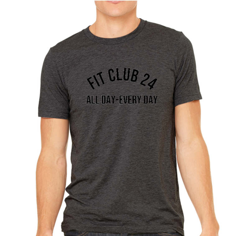 Black Fit Club 24 Tee