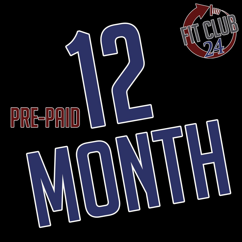 Pre-Paid 12 Month Membership