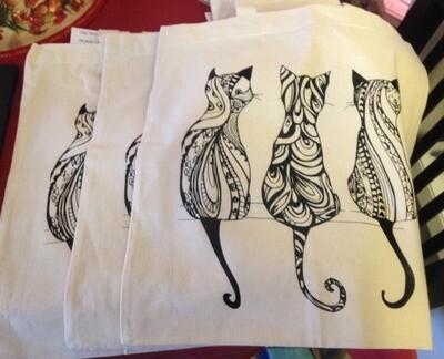 Three Cats Canvas Bag
