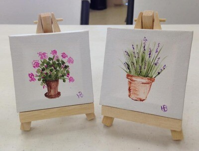 Pair of Acrylic Paintings