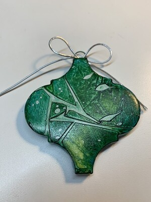Alcohol Ink Tile Ornament