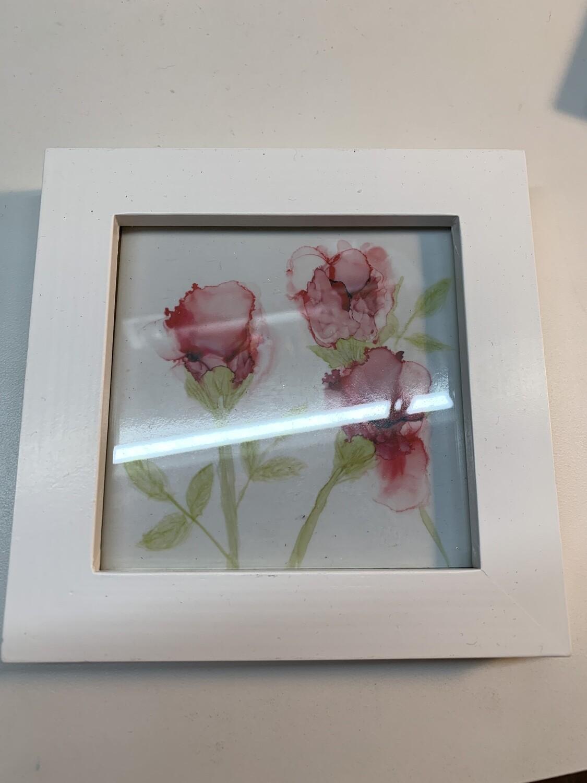 4x4 Framed Print, Roses