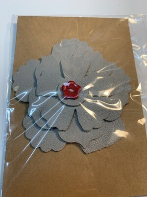 Leather Flower Pin