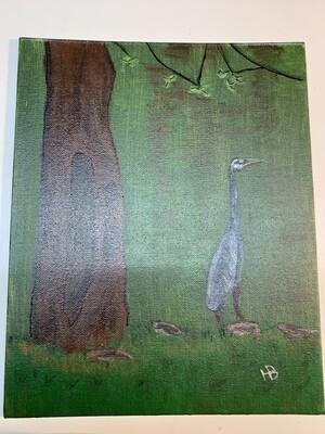 8x10 Heron in Acrylic