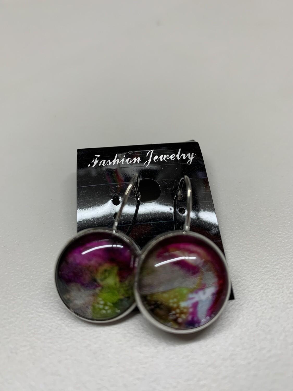Alcohol Ink Earrings