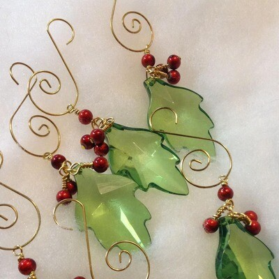 Holly Leaf Ornaments