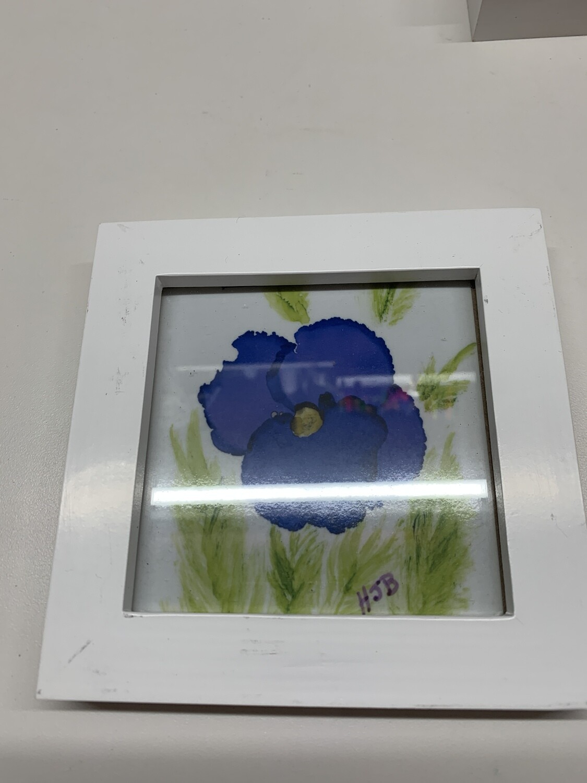 4x4 Framed Print, Pansy