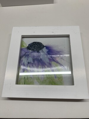 4x4 Framed Print, Purple Flower