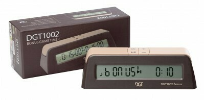 CHESS CLOCK, DGT 1002 with bonus time suitable for home and tournament use