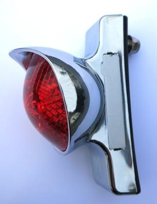 Lights; Retro Rear Light Fender Mount LED, Chrome