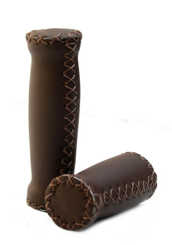 Grips; Dark Brown Leather/Dark Brown Stitching