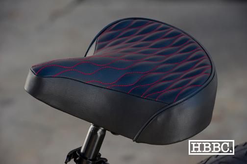 HBBC Quilted Seat Black w/ Red Stitching