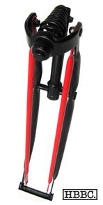 HBBC Black/Red Springer Fork