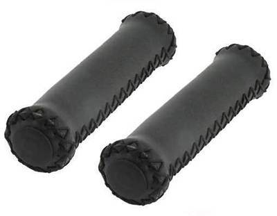 Grips; Black Leather/Black Stitching