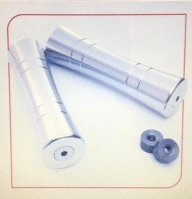 Grips; BoxKars Aluma-Spool Grips, Silver