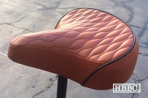 HBBC Quilted Seat Brown w/ Black Stitching