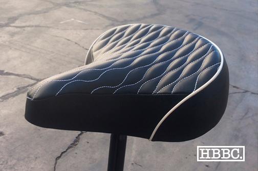 HBBC Quilted Seat Black w/ White Stitching