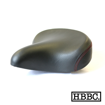 HBBC Classic Cruiser Seat Black w/ /Red Stitching