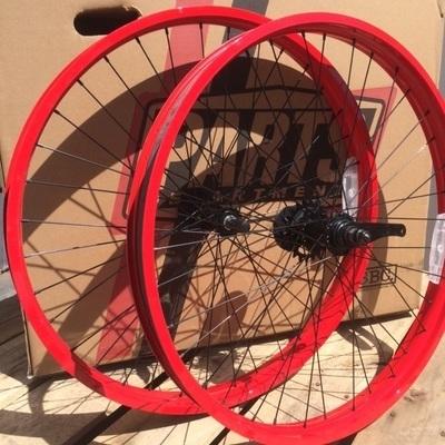 HBBC 50mm Single Speed Wheel Set, Red