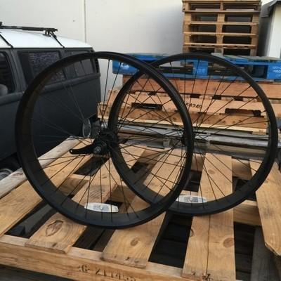 HBBC 80mm Single Speed Wheel Set, Black