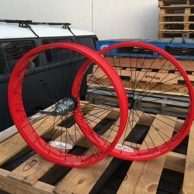 HBBC 80mm Three Speed Wheel Set, Red