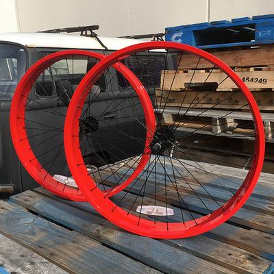 HBBC 80mm Single Speed Wheel Set, Red