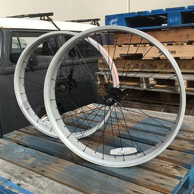 HBBC 80mm Single Speed Wheel Set, Silver