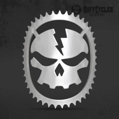 RUFF Cycles Skully Headbadge Silver