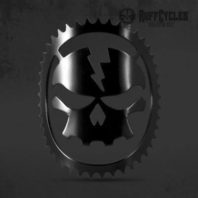 RUFF Cycles Skully Headbadge Black