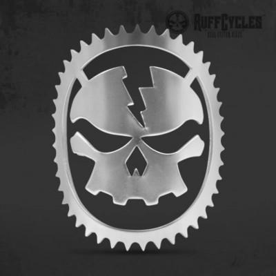 RUFF Cycles Skully Headbadge Chrome