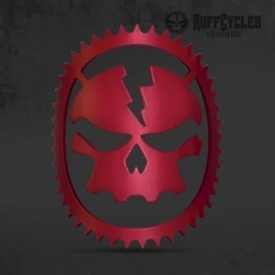 RUFF Cycles Skully Headbadge Red