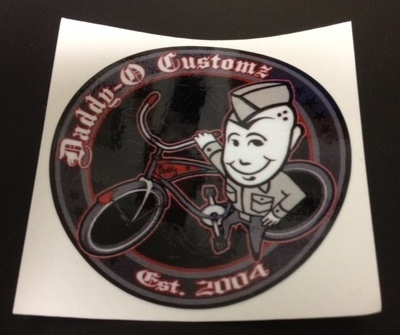 Stickers; Daddy-O Customz Bicycle Logo