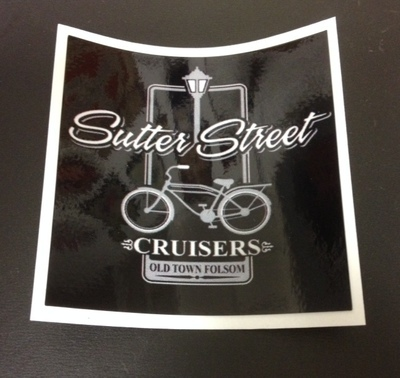 Stickers; Sutter Street Cruisers Traditional Logo