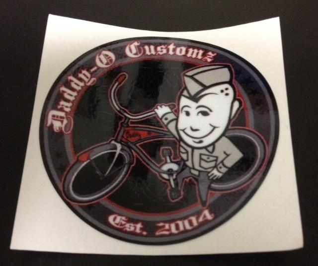 Stickers; Daddy-O Customz Bicycle Logo