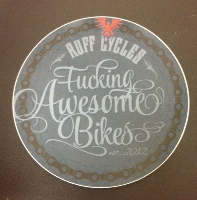 Stickers; RUFF Cycles