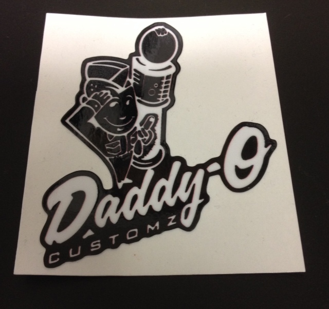 Stickers; Daddy-O Customz Traditional Logo