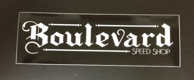 Stickers; Boulevard Speed Shop Logo