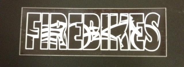 Stickers; FireBikes Logo, Black and White
