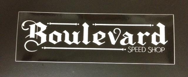 Stickers; Boulevard Speed Shop Logo