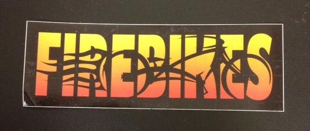 Stickers; FireBikes Logo, Color