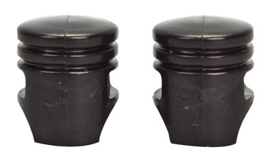 Valve Stem Caps; Trik Topz Piston, Black