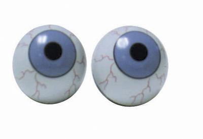 Valve Stem Caps; Trik Topz Eyeballs, Blue