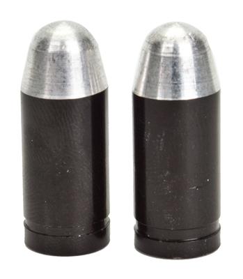 Valve Stem Caps; Trik Topz Bullet, Black