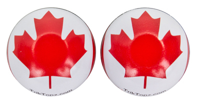 Valve Stem Caps; Trik Topz Canada Flag