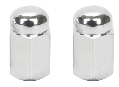 Valve Stem Caps; Trik Topz Hex Dome,  Chrome