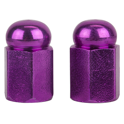 Valve Stem Caps; Trik Topz Hex Dome, Purple