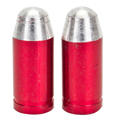 Valve Stem Caps; Trik Topz Bullet, Red