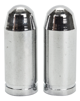 Valve Stem Caps; Trik Topz Bullet, Chrome