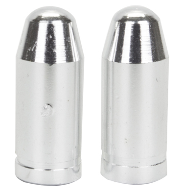 Valve Stem Caps; Trik Topz Bullet, Silver