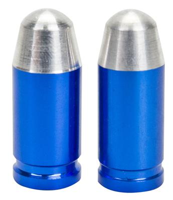 Valve Stem Caps; Trik Topz Bullet, Blue